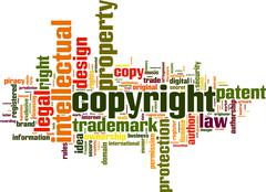 Stock Illustration of copyright word cloud
