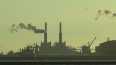 Chemical industry at the New Waterway Stock Footage
