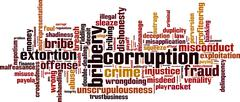 Corruption word cloud Stock Illustration