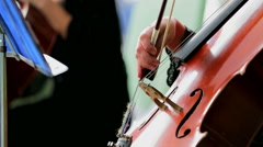 Cellist Playing the Violoncello Stock Footage