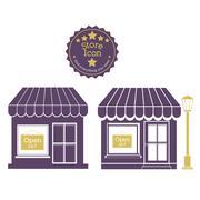 Stock Illustration of shopping design over beige background vector illustration