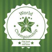 Stock Illustration of world championship over green background vector illustration