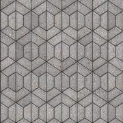 Openwork Gray Pavement Slabs. Stock Illustration