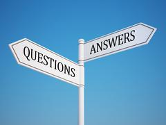 Question and answer signpost. Stock Illustration