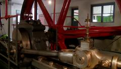 Old Machinery In Factory Stock Footage