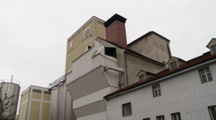 Old Factory Building in Europe Stock Footage