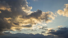 Storm cloud at sunset 4K Stock Footage