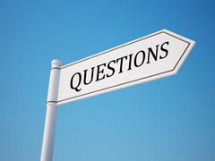 questions signpost. - stock illustration