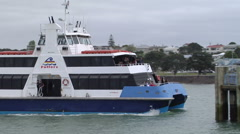 Fullers Ferry coming in to dock - stock footage