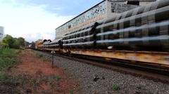 Train Passing Through a Yard (2 of 2) Stock Footage