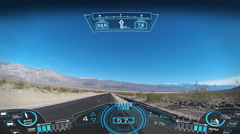 driving pov travel apps motion graphics hud interaction GPS technology satellite - stock footage