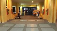 Foot trafic Nonthaburi pier' Bangkok.mp4 Stock Footage