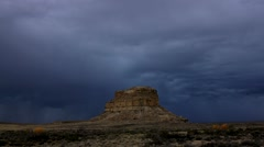 Chaco Canyon time lapse 1 at 29.9fps Stock Footage