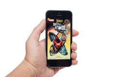 Marvel x-men battle atom Stock Photos