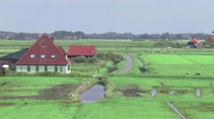Typical Dutch landscape of North Holland Stock Footage