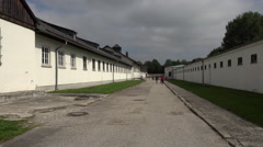 Dachau Concentration Camp between prison cells 4K 004 Stock Footage