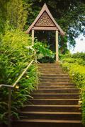 Zen buddhist arch Stock Photos