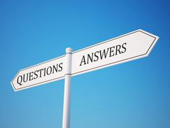 question and answer signpost. - stock illustration
