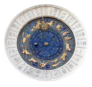 St Marks Astronomical Clock Isolated - stock photo