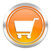 Cart icon, shop sign. Stock Illustration