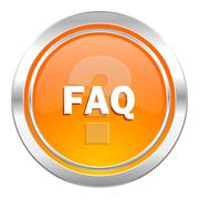 Stock Illustration of faq icon.