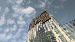 Futuristic sky scraper time lapse - stock footage