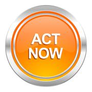 Stock Illustration of act now icon.