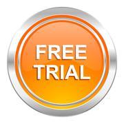 free trial icon. - stock illustration