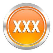 xxx icon, porn sign. - stock illustration