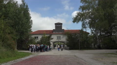 Dachau Concentration Camp main entrance 4K 001 Stock Footage