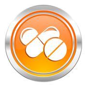 Medicine icon, drugs symbol, pills sign. Stock Illustration