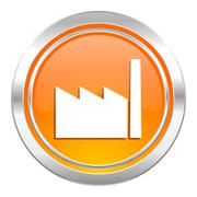 Factory icon, industry sign, manufacture symbol. Piirros