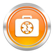 Rescue kit icon, emergency sign. Stock Illustration