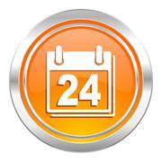calendar icon, organizer sign, agenda symbol. - stock illustration
