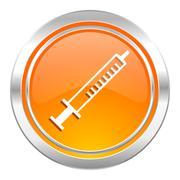 Medicine icon, syringe sign. Stock Illustration