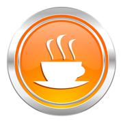 espresso icon, hot cup of caffee sign. - stock illustration