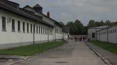Dachau Concentration Camp prison cell blocks 4K 005 Stock Footage