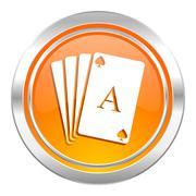 Casino icon, hazard sign. Stock Illustration