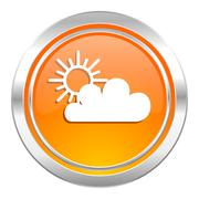 Stock Illustration of cloud icon, waether forecast sign.