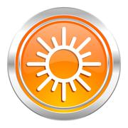 Stock Illustration of sun icon, waether forecast sign.