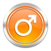 male icon, male gender sign. - stock illustration