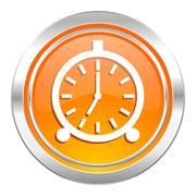 alarm icon, alarm clock sign. - stock illustration