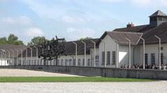 Dachau Concentration Camp school children tour 4K 007 Stock Footage
