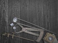 Vintage tools and diamonds Kuvituskuvat