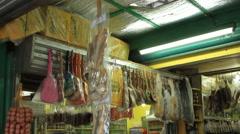 Asian outdoor street market vendor Stock Footage