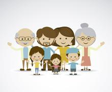 Different families over gray background vector illustration Stock Illustration