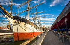 The wavertree sailing ship at south street seaport in manhattan, new york. Stock Photos