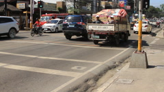 Philippine traffic at city intersection Stock Footage