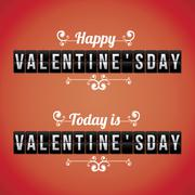 Stock Illustration of valentines day over red background vector illustration