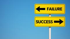 success failure sign with clipping path. - stock illustration